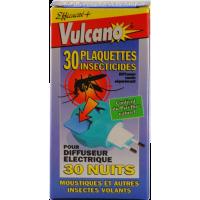 Vulcano recharge 30 plaquettes anti-moustiques